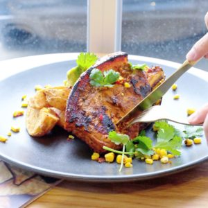 Riddik: Marinated pork cutlet