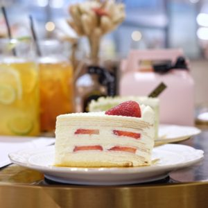 Le Mille Creperie: Strawberry crepe cake