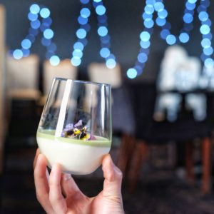 Skybar and Kitchen: Green tea panna cotta