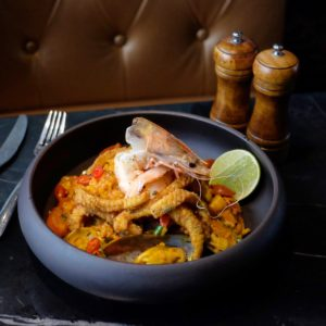 Skybar and Kitchen: Paella mariscos with pippies
