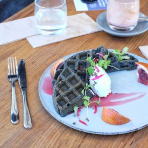 Cornerstone of Northcote: Coconut charcoal waffles