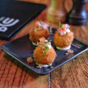 St LuJa: Truffled mac and cheese croquettes