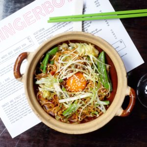 Gingerboy: Stir-fried clay pot noodles