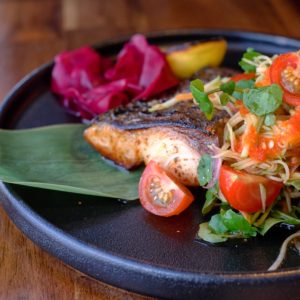 Ro Brighton: Kingfish with apple kim chi salad