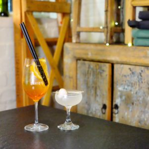 David's: Lychee martini and Rising sun spritz