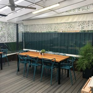 Ivy and Pearl: Outdoor deck area