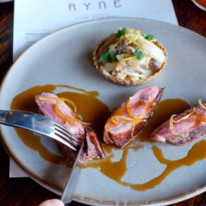 Ryne: Pan fried duck breast