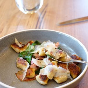 Seville Estate: Potato gnocchi, our tomatoes, garden basil, olive
