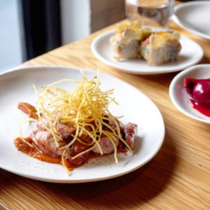Messer: Berlin-style duck 'currywurst'