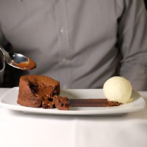 Cecconi's: Warm chocolate pudding