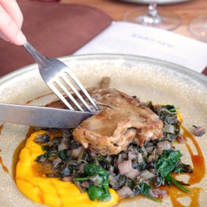 Fowles Wine: Confit duck leg
