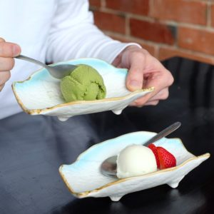 Izakaya Jiro: Matcha ice cream and citrus sorbet
