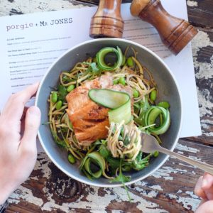 Porgie + Mr Jones: Seared salmon