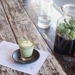 Porgie + Mr Jones: Matcha latte