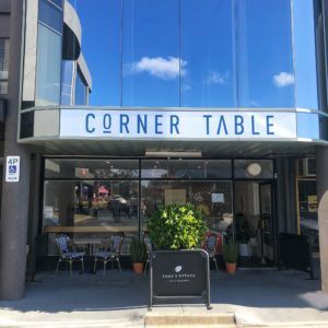 Corner Table: Front of venue